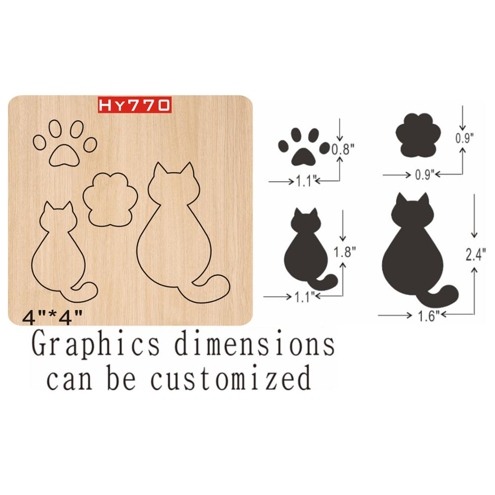 Cats Cutting Dies 2019 Die Cut & Wooden Dies Suitable  For Common Die Cutting  Machines On The Market