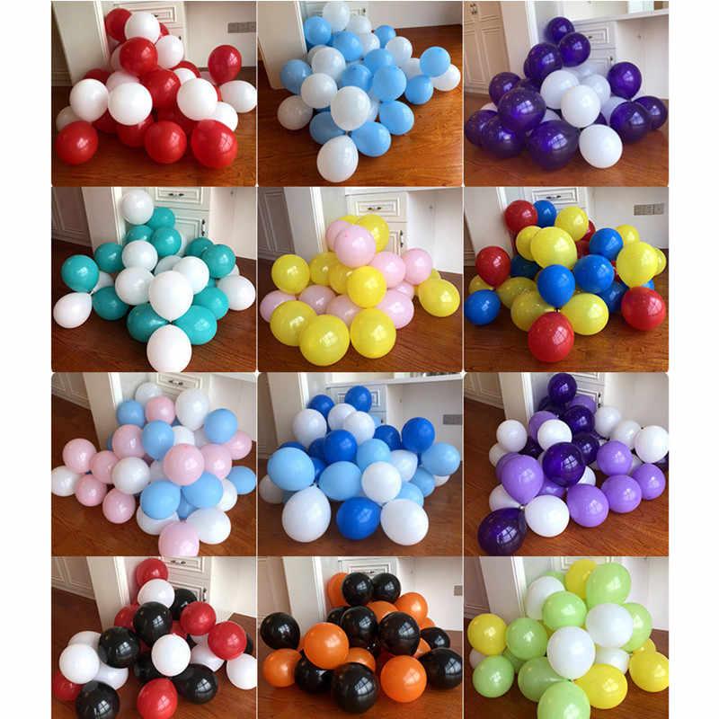 10 個 12 インチビッグクリアバルーンラテックス風船ウェディングデコレーションインフレータブルヘリウム空気ボールおもちゃハッピー誕生日パーティーの風船