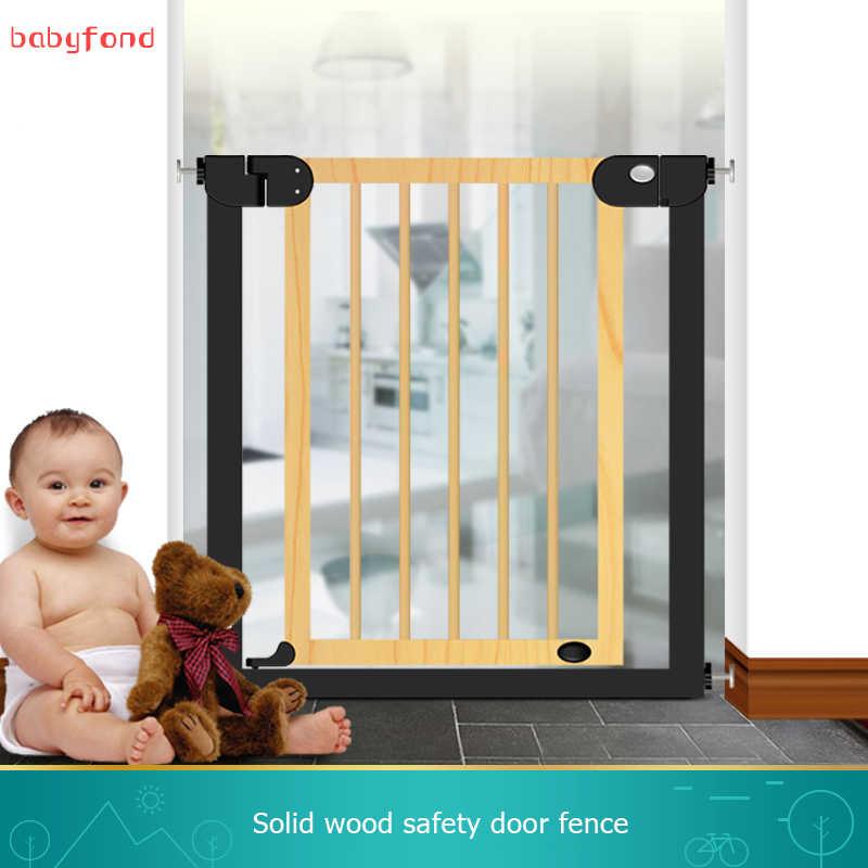 Barandilla de aislamiento libre de perros puerta de madera maciza escaleras anti-puerta valla para mascotas puerta de seguridad Puerta de poste interior