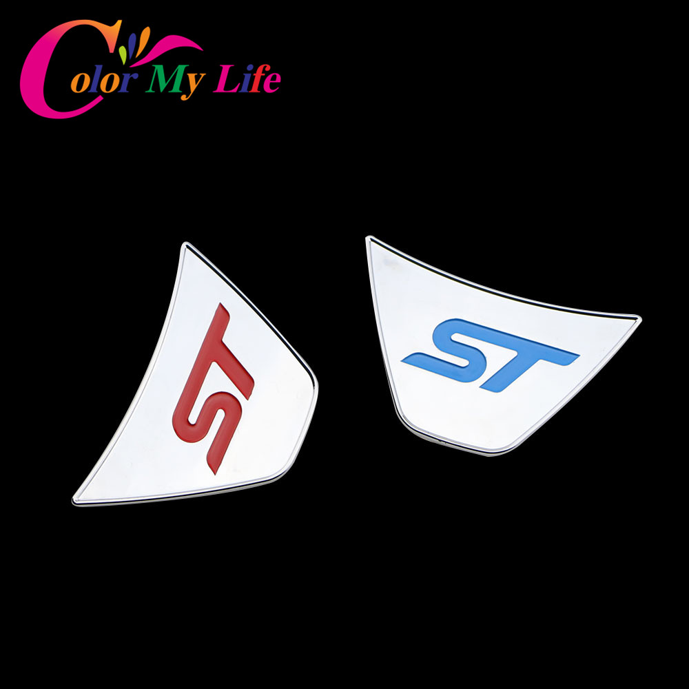Color My Life St Steering Wheel Sequins Sticker ABS Chrome Cover Stickers For Ford Fiesta Ecosport 2009 - 2017 Auto Accessories my fairies sticker storybook