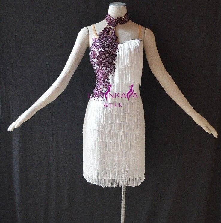 KAKA-NL15120Women Dance Wear, pera rebordear vestido latino, vestido - Novedad