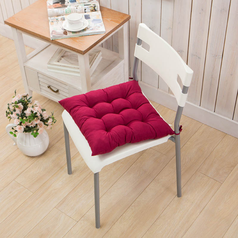 40x40CM Winter Home Office Decoration Seat Cushion Solid Color Comfortable Bar Chair Sofa Pillow Buttocks Chair Cushions
