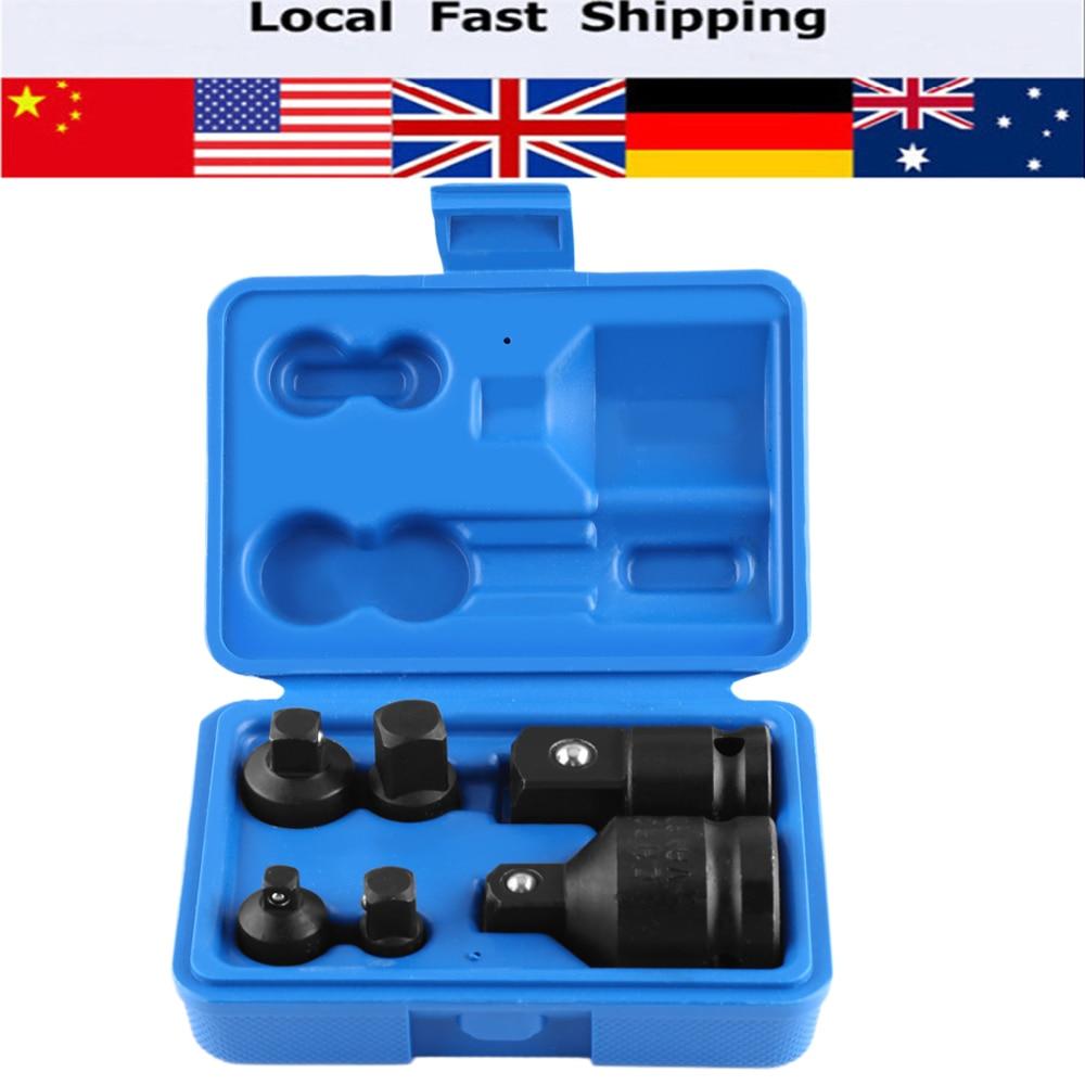 6pcs set impact socket adaptor reducer adapter 1 4 1 2 3 8 3 4 ratchet breaker drive wrench hand. Black Bedroom Furniture Sets. Home Design Ideas