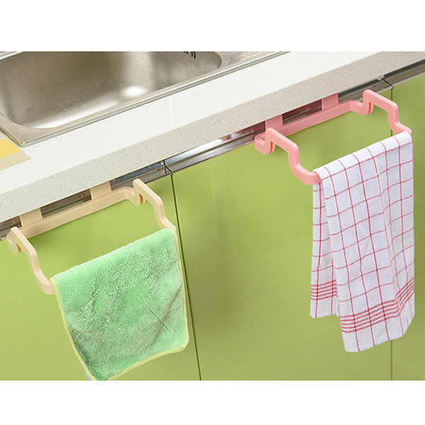 Kitchen Garbage Bags Storage Rack Trash Bag Holder Hanging Cupboard Dish  Cloth Hanger Frame Holder Cabinet
