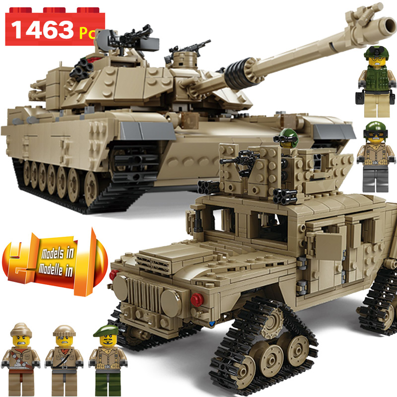 Blocs créatifs Technic Compatible avec la série militaire LegoINGLY US armée M2A1 arme de réservoir briques à monter soi-même enfants cadeaux d'anniversaire jouets