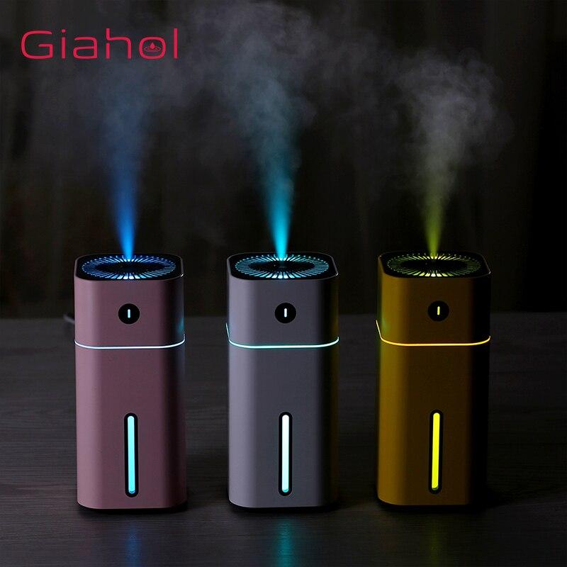 GIAHOL 180ml Mini Portable Ultrasonic Air Humidifier USB Super Mute Aroma Diffuser Car Home Air Freshener With LED Night Light