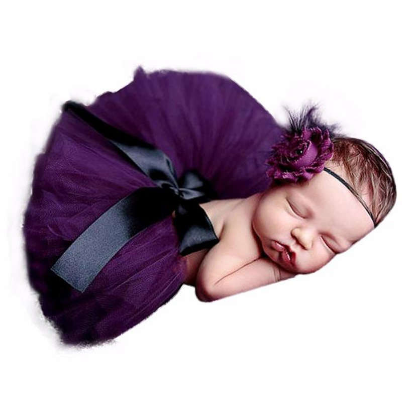 ROMIRUS-Newborn-Baby-Girls-Boys-Costume-Photo-Photography-Prop-Outfits-Princess-Skirt-Handmade-Crochet-Beaded-Cap-Headband-M3-3