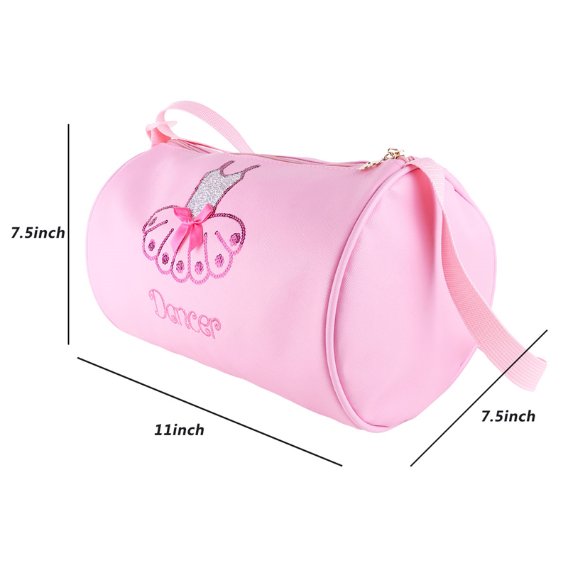 Girls Ballet Dance Duffel Lace Bags Gym Embroider Tote Personalised Shoulder Bag