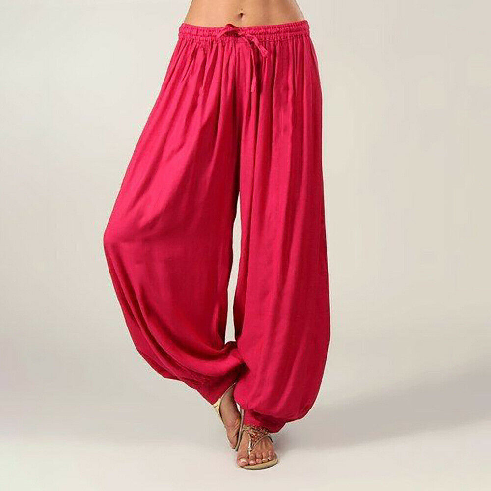 Women Trousers Solid Color High Waist Loose Long Pant Ladies Casual Sport Femme Summer Clothes 5Color