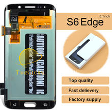 5pcs Free shipping Original Mobile Phone Parts For Samsung S6 Edge Lcd Display Assembly G925i G925v G9250 Top Fashion