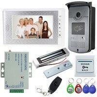 New 7 Wired Color Video Door Phone Kit Set With Intercom Doorbell Camera 180KG Magnetic Lock
