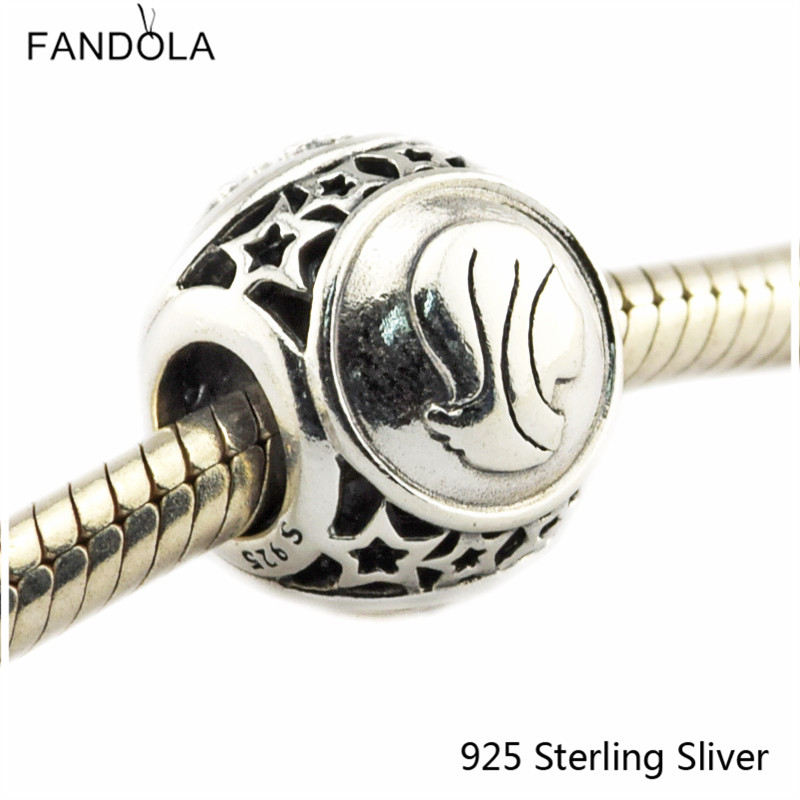 Virgo Star Sign 925 Sterling Silver Charm Beads Fits For Pandora Bracelet Charms for DIY Fine Jewelry