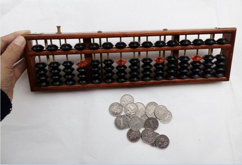 kitajski abakusi Otroci in študentje lepi 15-stebrski trdni leseni Abacus leseni okvir Beads abacus soroban Starodavne igrače