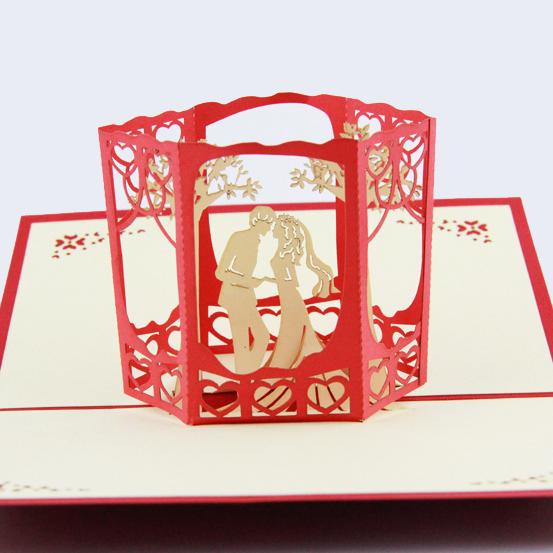 Aliexpresscom Buy Garden tree wedding card 3D card pop up card