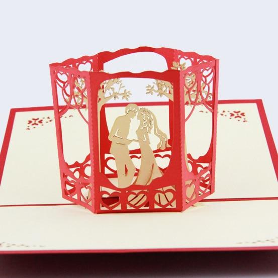 Garden tree wedding card /3D card pop up card/wedding invitation customize Free shipping