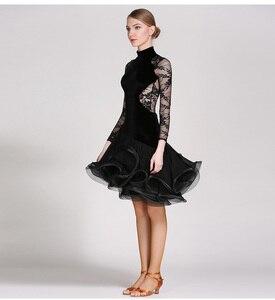 Image 1 - Rosso del merletto di ballo latino del vestito frangia delle donne vestito latino vestiti di ballo Dancewear latina salsa abiti per il ballo samba tango