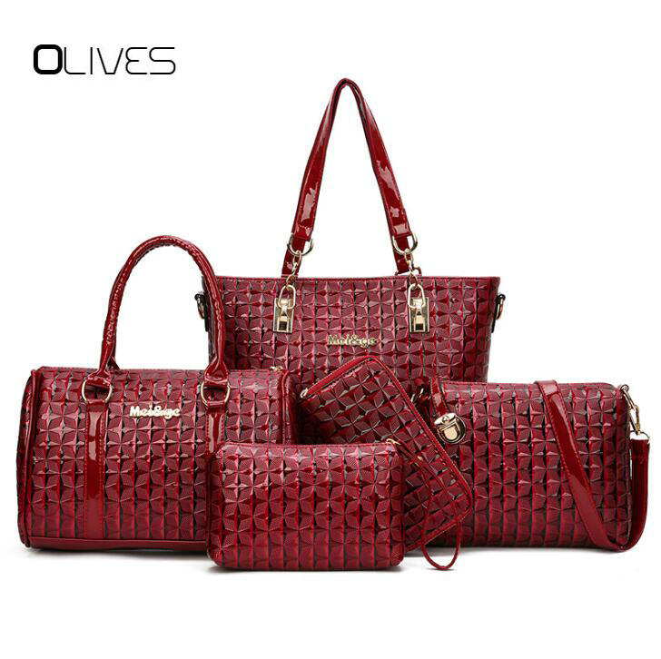 5pcs Composite Bags Women's Handbag High Quality Leather Shell Bag Female Shoulder Bag Women Purse Coin wallet Messenger Bags