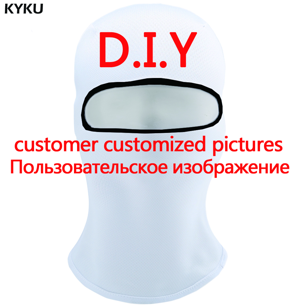 KYKU Customize Skullies Beanies Men Balaclava Custom Pictures Hats Military Face 3d Printed Beanie DIY Cool Mens Beanie New