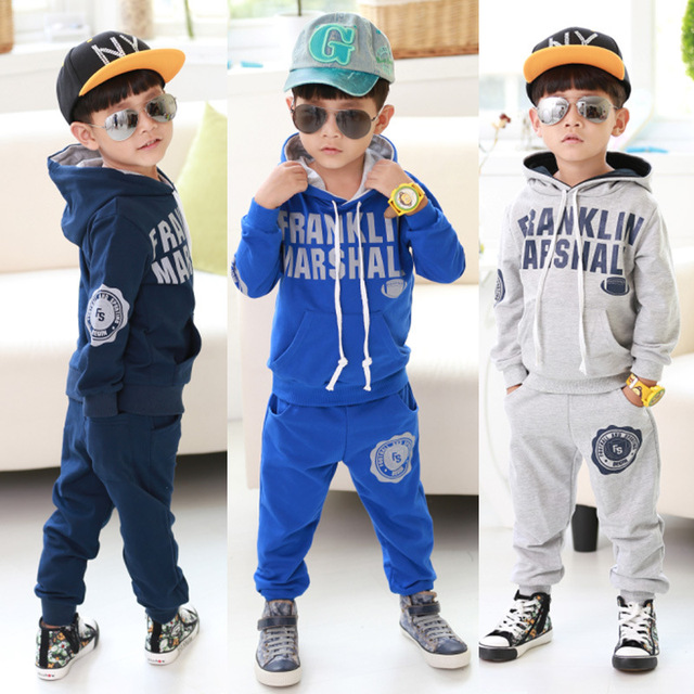 b17ae8dd3 New autumn kids suits children sweat suits boys alphabet long sleeve ...