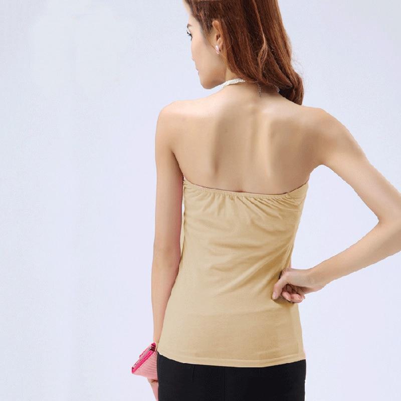 Women Strapless Intimates Solid Summer Soft Modal Tube Tops Female Backless Off Shoulder Slim Tube Tops 6