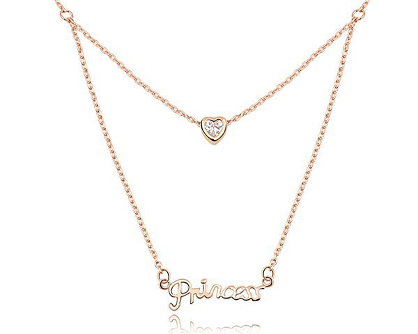 Cubic zircon love necklaces for couples princess letter heart cubic zircon love necklaces for couples princess letter heart jewelry valentine gifts for aloadofball Image collections