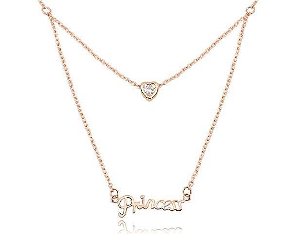Cubic Zircon Love Necklaces For Couples Quot Princess