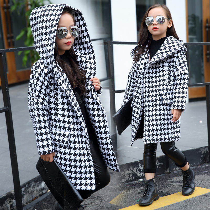 long girls parkas jackets coats winter 2017 with hoods black white plaid hooded trend coat thick warm winter clothing for teens 2017 new fashion women long cotton coats size s 2xl hooded collar warm parkas winter black navy green color woman parkas qh0449