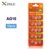 10 teile/los = 1 pack AG10 LR1130 389 LR54 SR54 SR1130W 189 L1130 Taste Zellen Uhr Münze Batterie AG10 LR1130 lr 1130 celular batterie