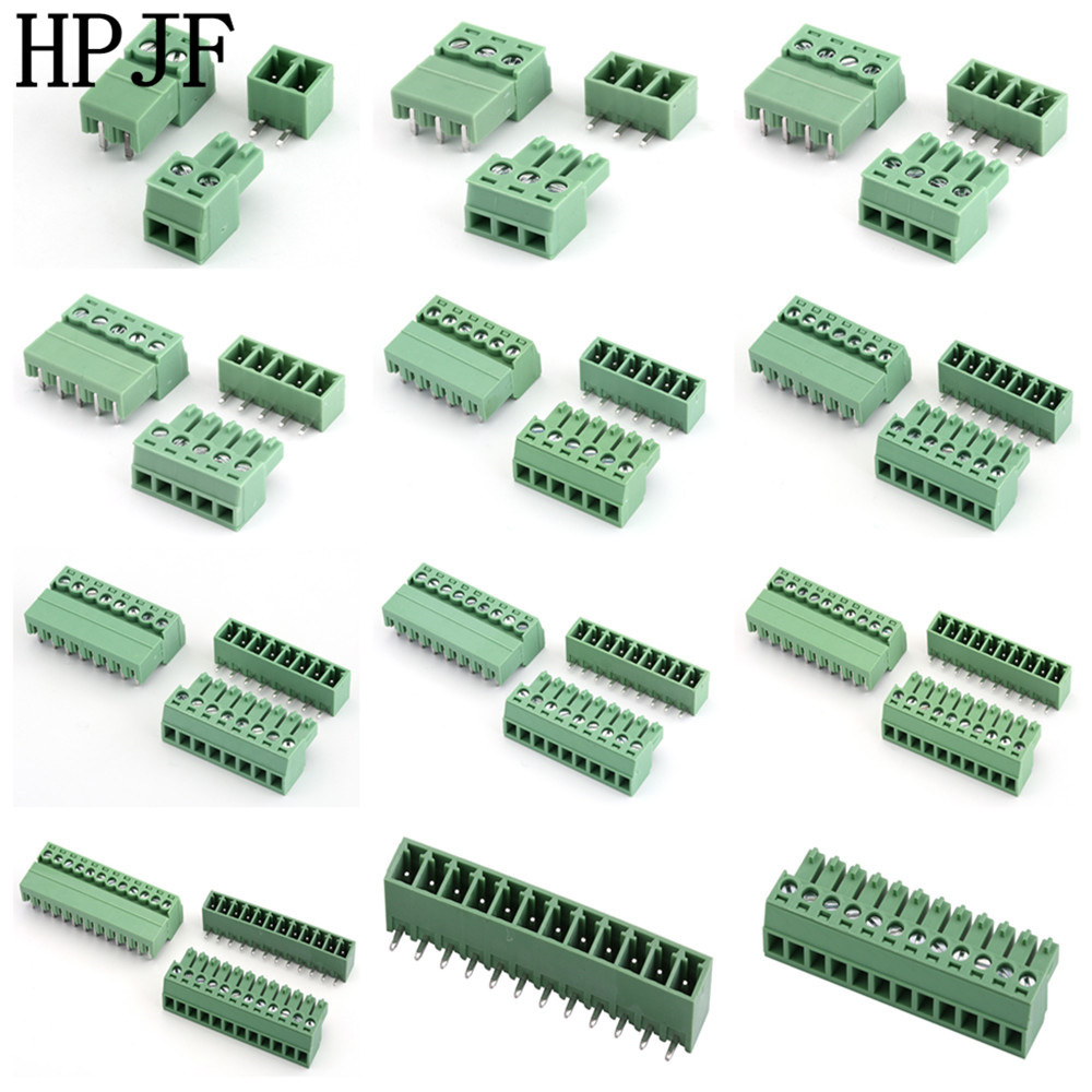 KF2EDGK-3.81 2/3/4/5/6/7/8/9/10/11/12Pin Right Angle Terminal Plug Type 300V 8A 3.81mm Pitch Connector Pcb Screw Terminal Block