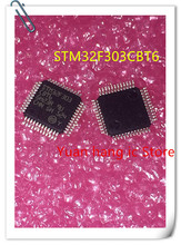 10pcs/lot STM32F303CBT6 STM32F303 CBT6 LQFP-48 32 bit FLASH microcontroller, 128KB RAM