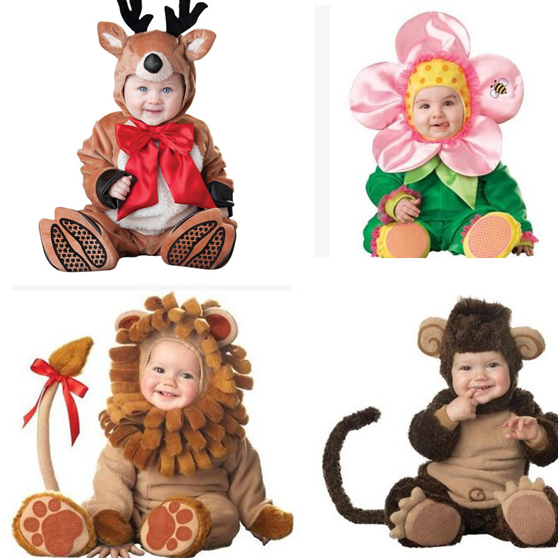 Baby Fleece Rompers Set Newborn Kids Boy Girls Jumpsuits Overalls Suits Winter Animal Cosplay Shapes Halloween Christmas Costume cotton baby rompers set newborn clothes baby clothing boys girls cartoon jumpsuits long sleeve overalls coveralls autumn winter