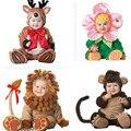 Macacão De Lã bebê Set-nascidos Crianças Das Meninas do Menino Macacões Macacões de Inverno Ternos Animais Cosplay Formas Halloween Costume de Natal