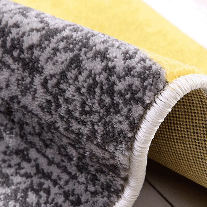 Tapis géométriques nordiques pour salon tapis de chambre à coucher épais en polypropylène Rectangle grand Ins tapis d'étude à domicile tapis de chambre d'enfants - 5