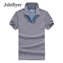Jzhifiyer camisas polo S-3XL 180GSM Men's shirt Jersey top shirt Multi-color cotton masculina mens polo brand clothing