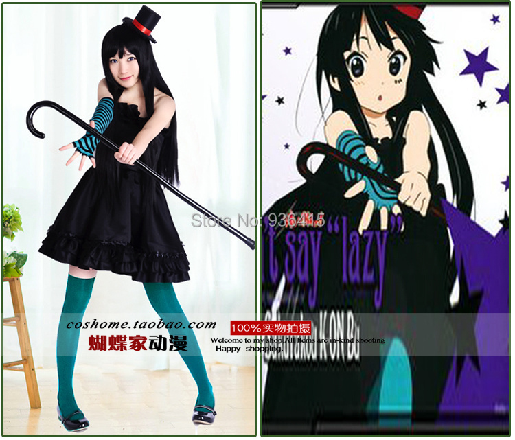 Free shipping K-ON! Mio Akiyama dress Cosplay Costume for party dress for gifts Cosplay Anime Vocaloid  Dress