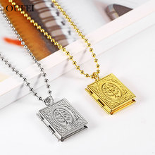 OUFEI Stainless Steel Jewelry For Woman Photo Frame Necklace Fashion Summer Accessories Choker Mass Effect
