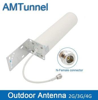 4g açık anten 3G omni yönlü anten 12dBi GSM 4G anten ile N kadın için hücresel sinyal booster tekrarlayıcı