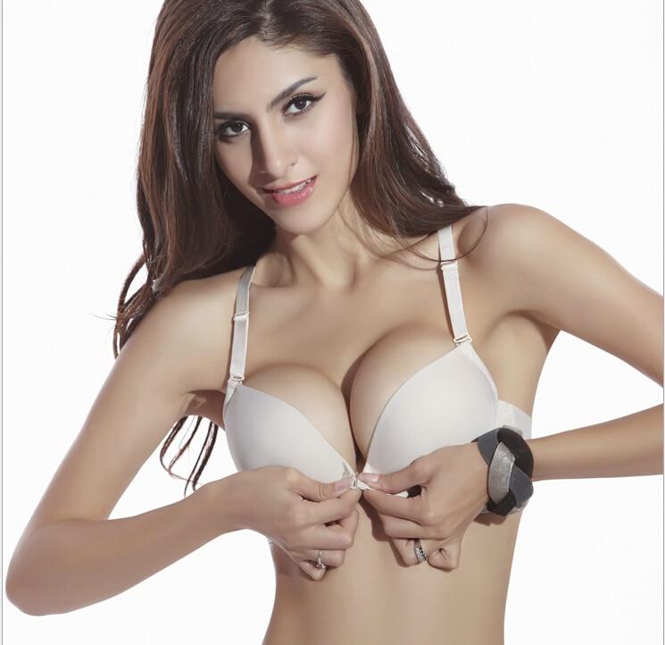 Deep V neck sexy bra seamless one piece underwear a chip small ...