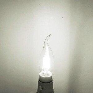 Image 5 - 10 pièces LED Filament ampoule E14 4W/6W AC220V verre coquille 360 degrés C35 Edison rétro bougie lumière blanc chaud/froid livraison gratuite