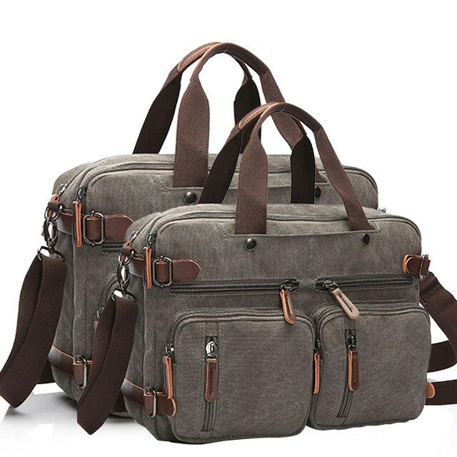 Men Handbags Laptop Shoulder bags Crossbody Men Messenger Bag Canvas Large Capacity Vintage Travel Bags
