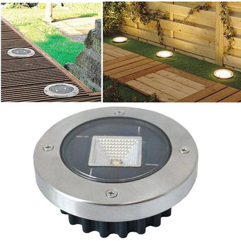 Solar Power Buried LED 100000 Hours Auto-on Sensor Night Light Ground Lamp Outdoor Path Way Garden Light Decking Waterproof