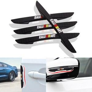 4 pçs porta do carro anti-colisão pára-choques tira guardas protetor lateral adesivo para mitsubishi ralliart lancer ralli arte 10 asx estilo