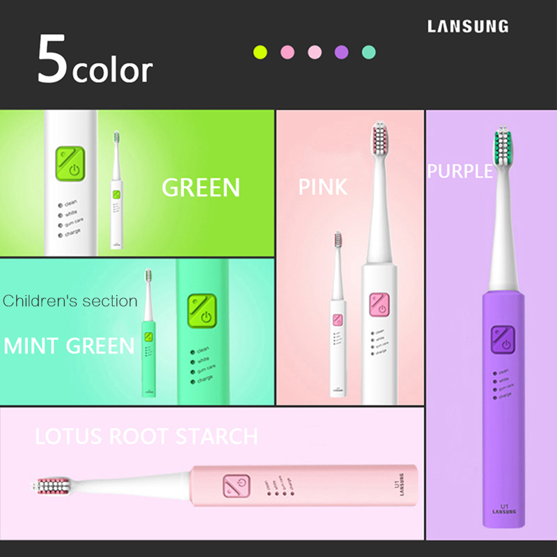 Electric Toothbrush Lansung u1 Ultrasonic Toothbrushes Sonic Tooth Brush electric kids toothbrush Cepillo Dental Oral Hygiene 5 in Electric Toothbrushes from Home Appliances