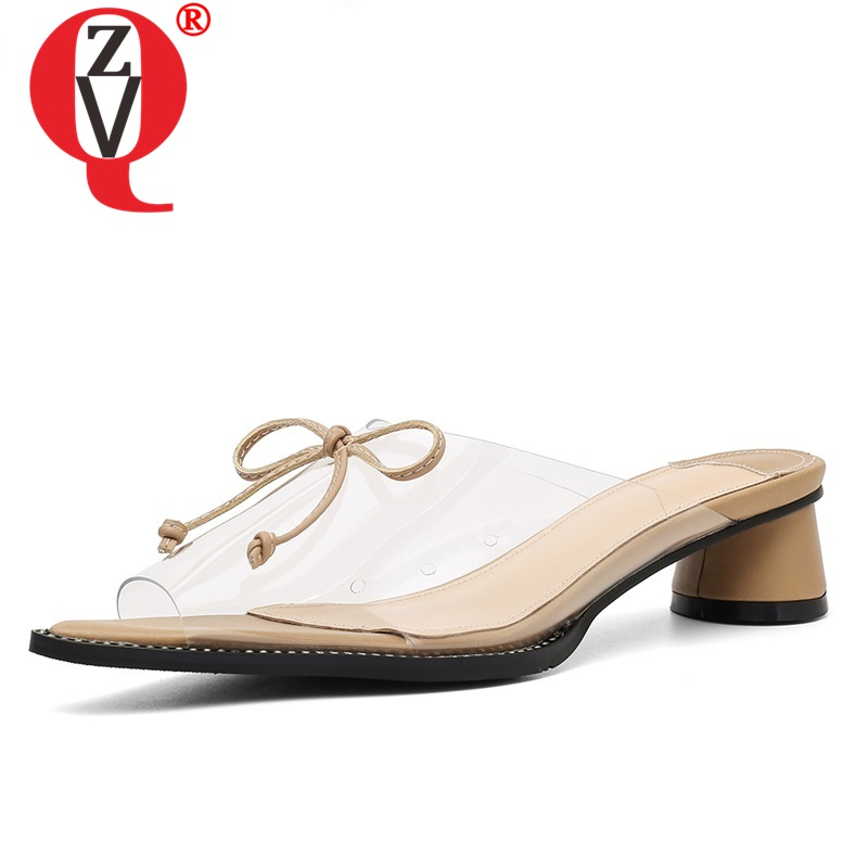 ZVQ hot sale woman shoes summer newest fashion sexy open toe woman slippers outside mid heels bowtie ladies slides size 33-40ZVQ hot sale woman shoes summer newest fashion sexy open toe woman slippers outside mid heels bowtie ladies slides size 33-40