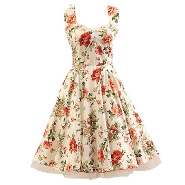6590128d9 Audrey  Hepburn Evening Party Dresses Women s Halter 1950s Style Retro Garden  Party Printed Inspired Rockabilly Swing Dress