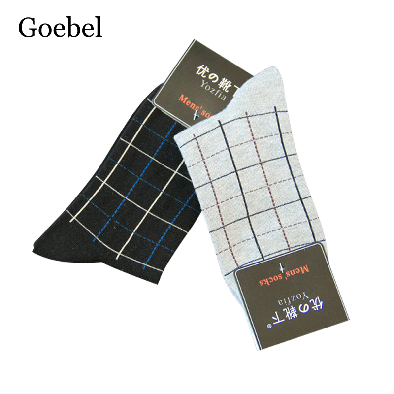 Goebel Men Socks Cotton Comfortable Breathable Business Socks For Man Casual Absorb Sweat Male Tube Socks 2pairs/lot