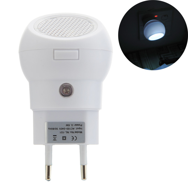 New 360 Degree Rotating LED Night Lights Lamp Auto Sensor Smart Lighting Control Lamp 110-240V Nightlight Bulb Light Lamparas