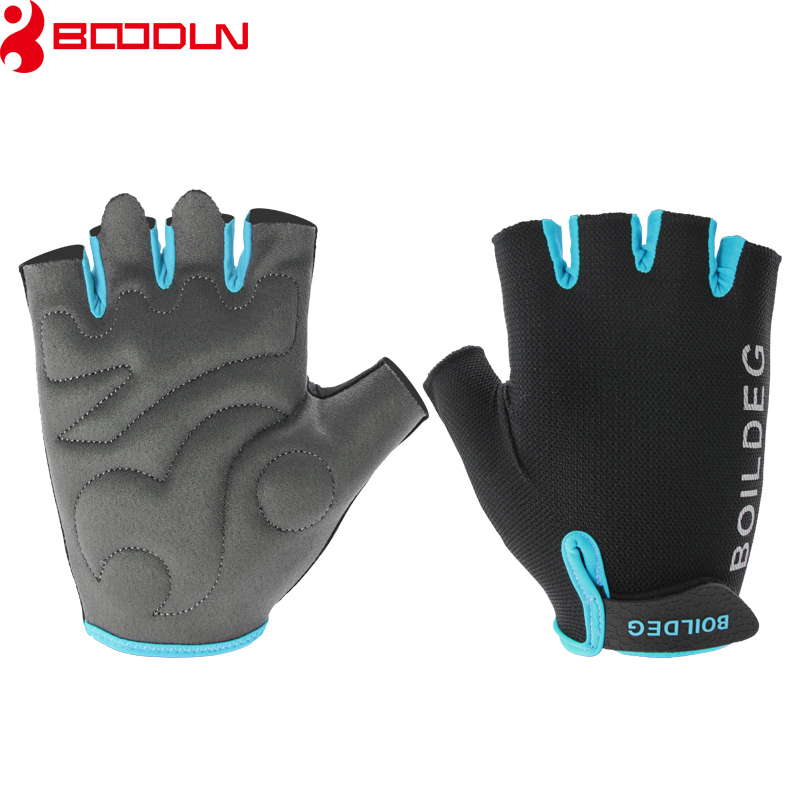 Boodun Gym Gloves Men Women Body Building Half Finger Fitness Gloves Anti-slip Weight Lifting Sports Training Gloves Breathable