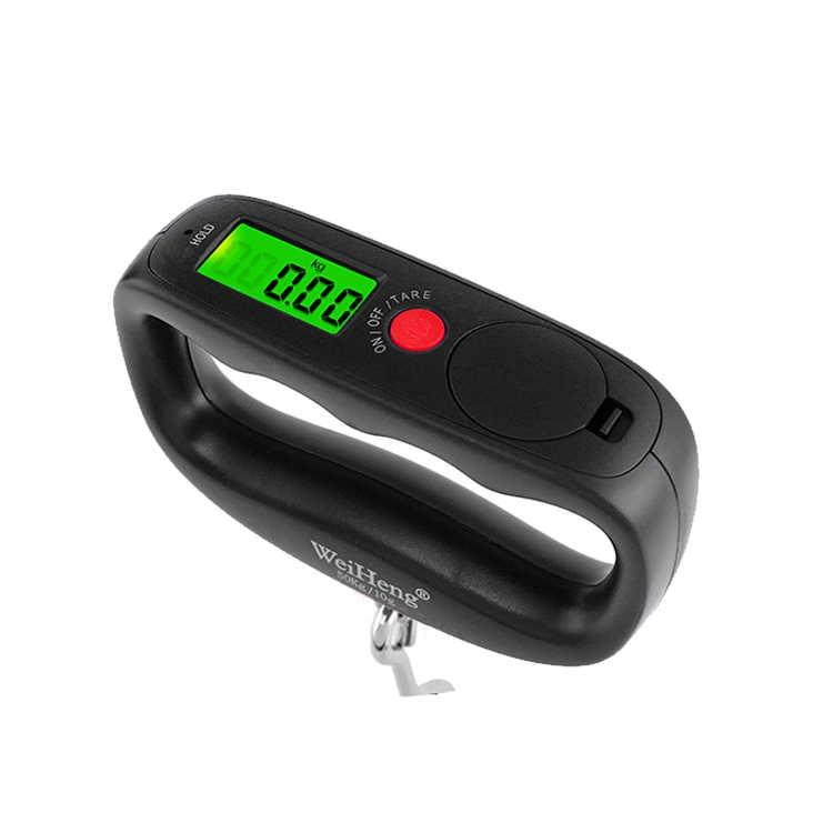 WeiHeng 50 kg/10g Escalas mão Portátil Eletrônico Bagagem Digital Hanging Gancho Escala de Peso escala de Equilíbrio de Pesca Viagem