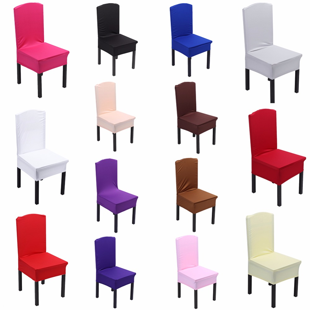 Colors Dining Chair Covers Spandex Strech Elastic For Wedding Party Home Deco Cover On